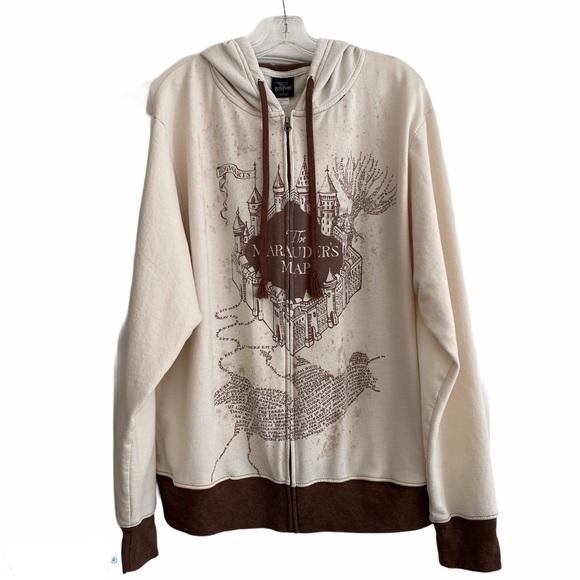 Harry Potter Marauder's Map Zip Up Hooded Jacket